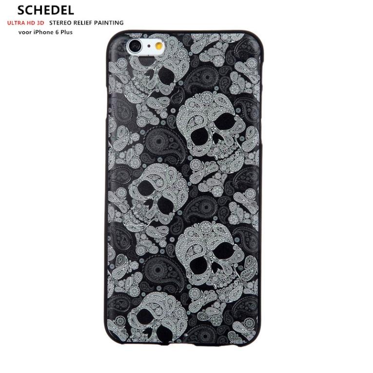 Design 3d Softcase Hoesje Iphone 6 Plus Schedel Iphone 6 Plus
